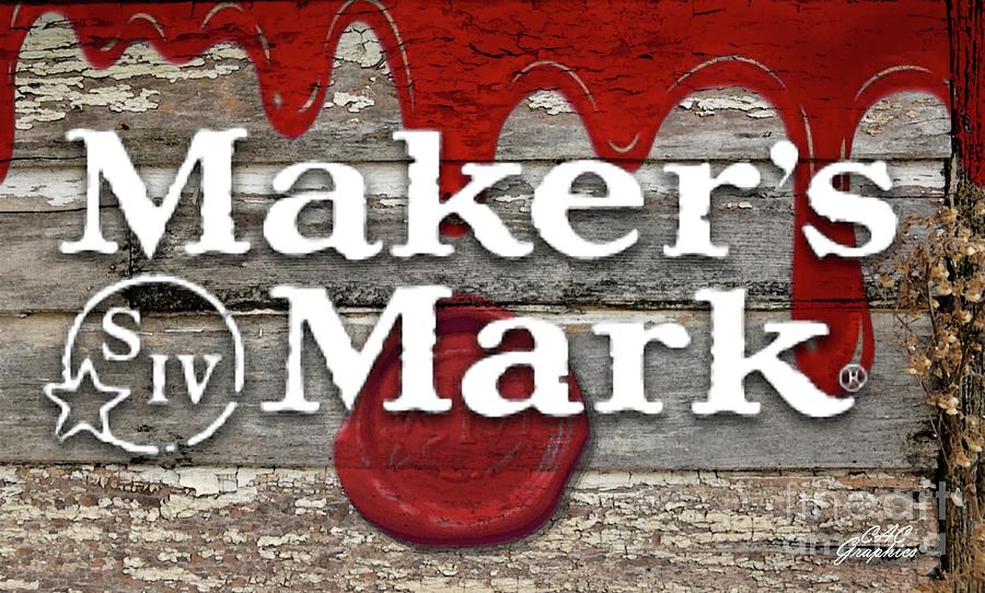 Makers Mark Barn Wood Sign by CAC Graphics