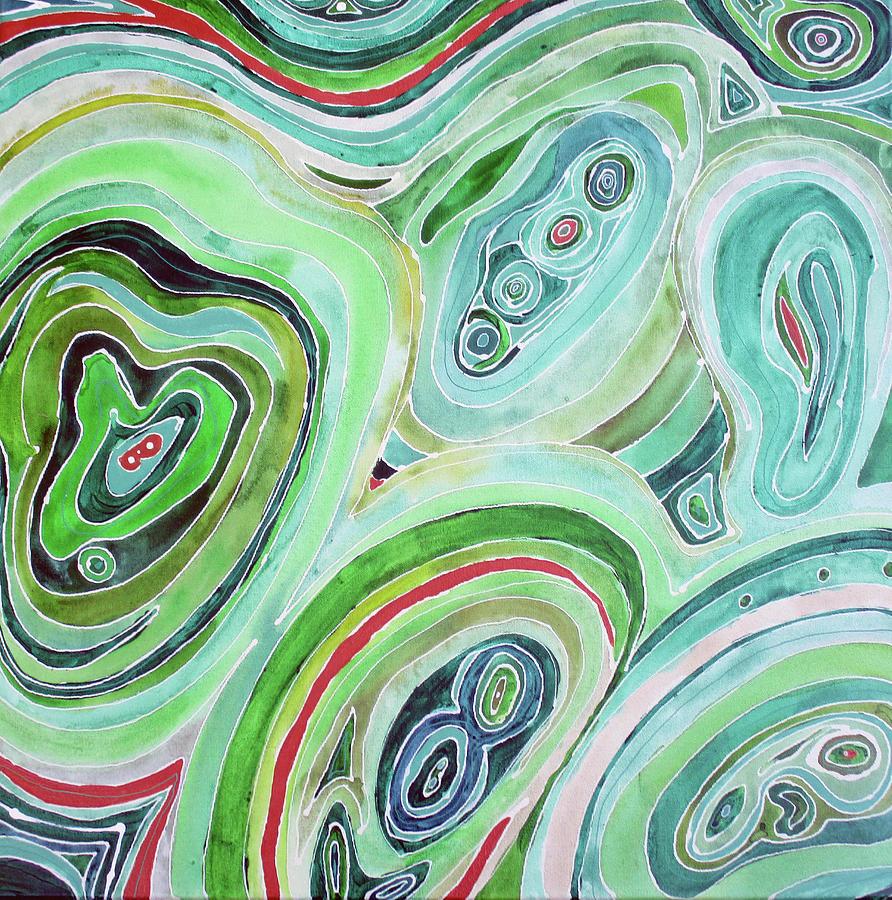 Malachite Painting - Malachite by Lauren Moss