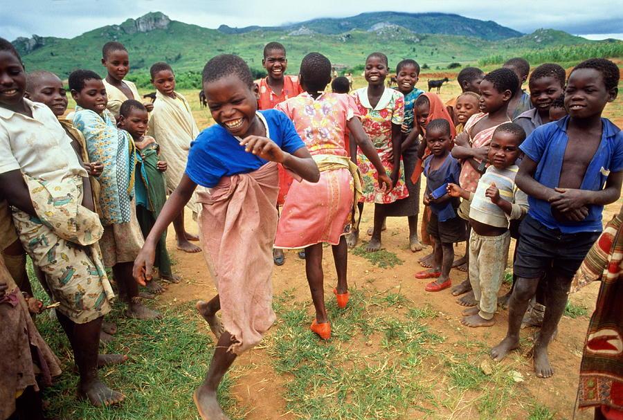 Malawi,mapira Refugee Camp,children Photograph by Penny Tweedie