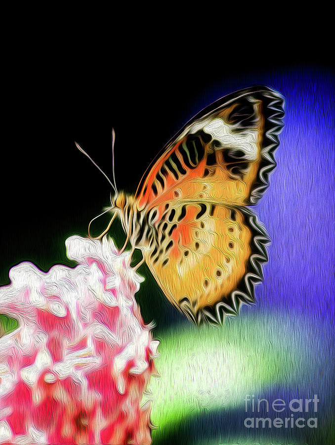 Malay Lacewing Butterfly I Digital Art by Kenneth Montgomery