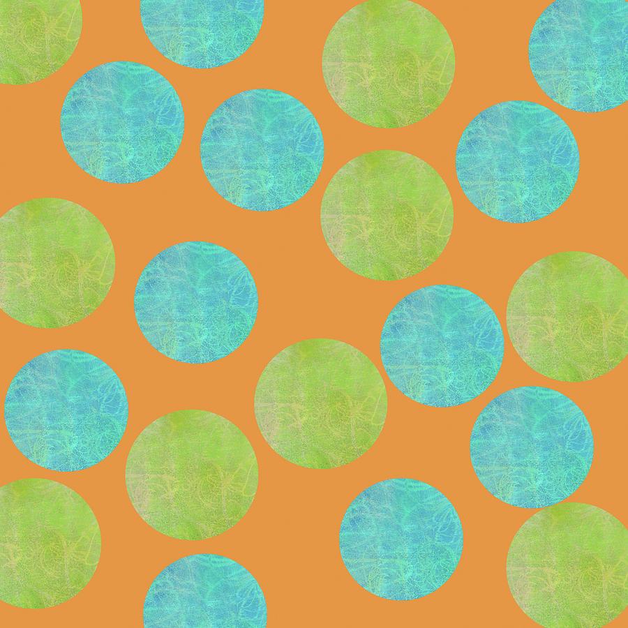 Malaysian Batik Polka Dot Print Digital Art