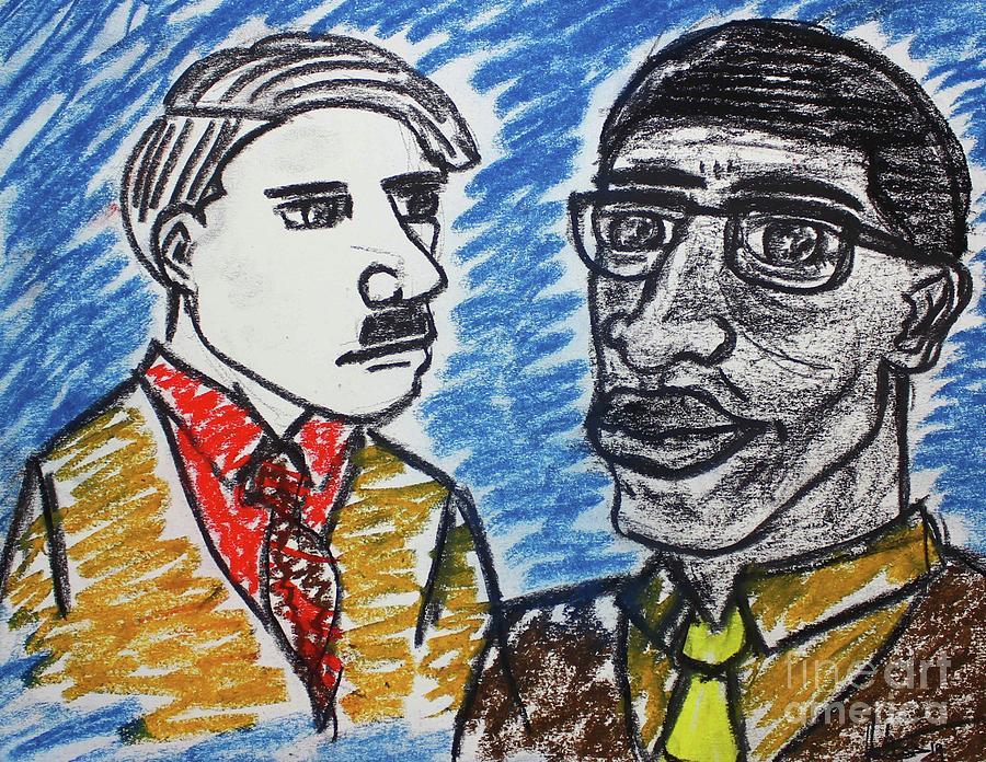 Malcolm and Adolf by Odalo Wasikhongo
