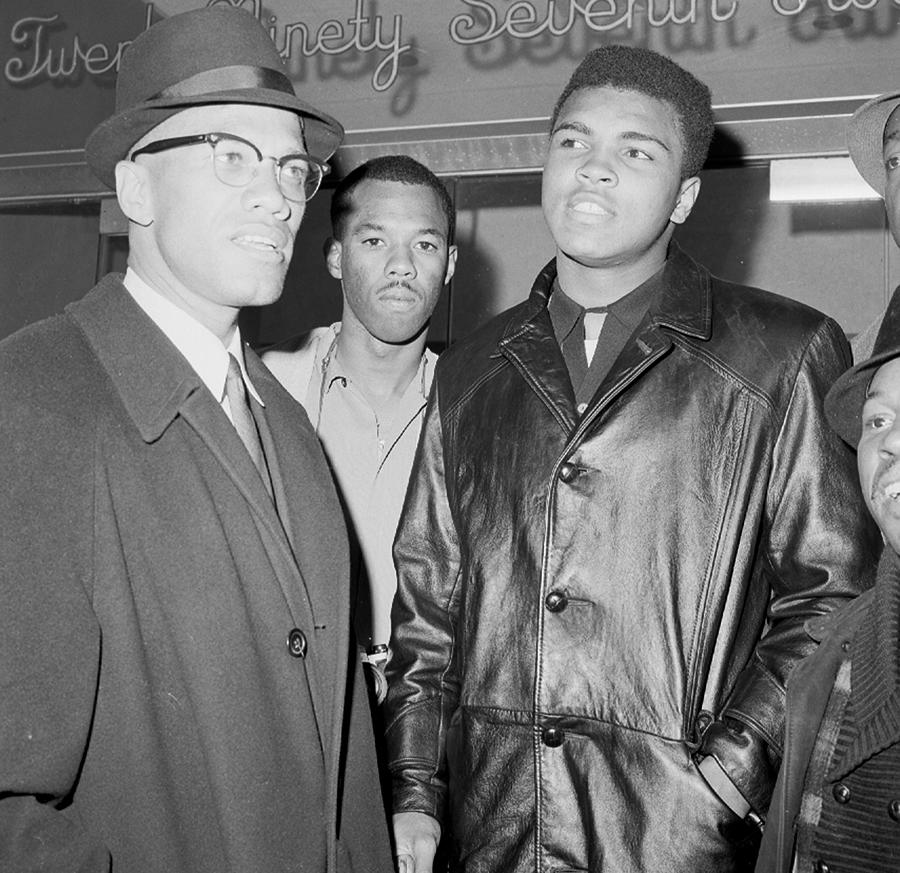 Malcolm X Left With Cassius Marcellus Photograph by New York Daily News Archive