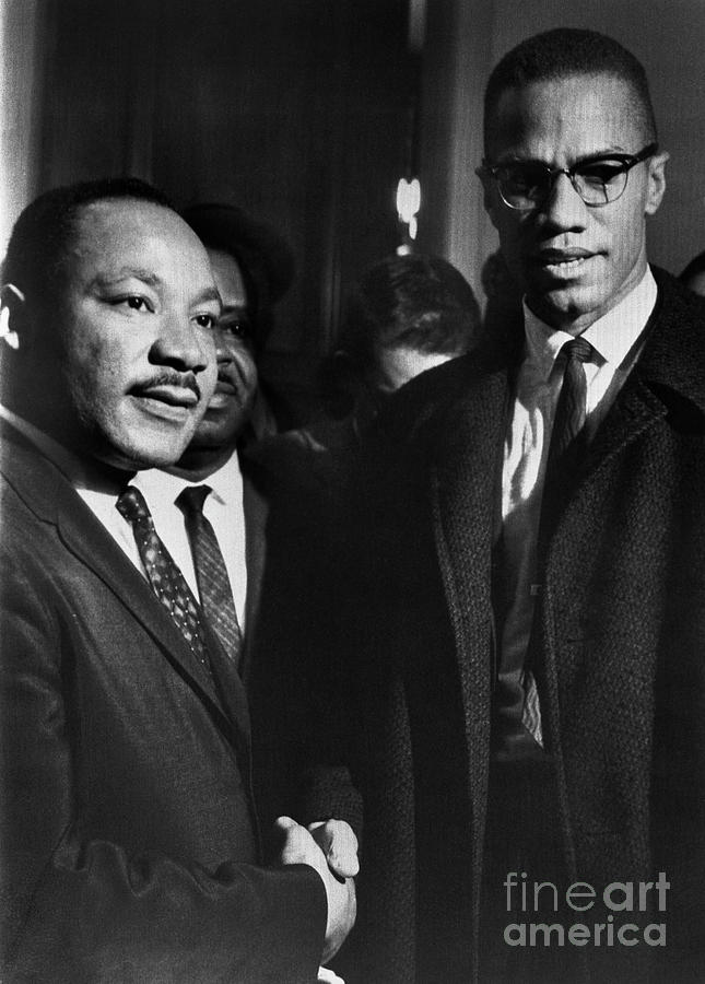 Malcolm X Meets Dr. Martin Luther King Photograph by Bettmann