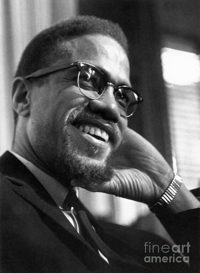 Malcolm X Portrait by Granger