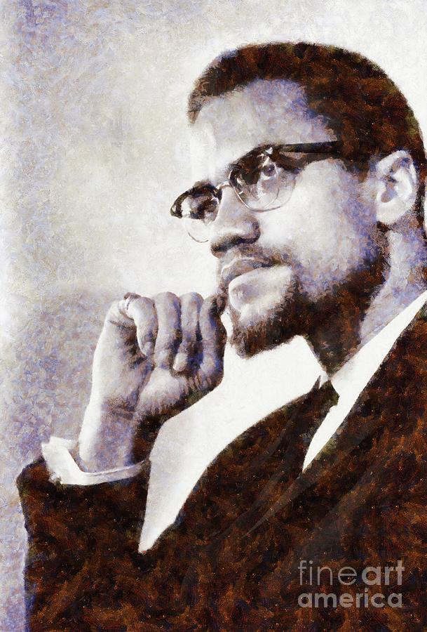 Malcolm X by Sarah Kirk