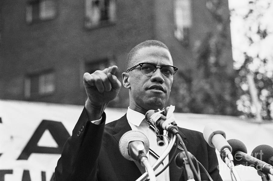 Malcolm X Speaking At Rally Photograph by Bettmann