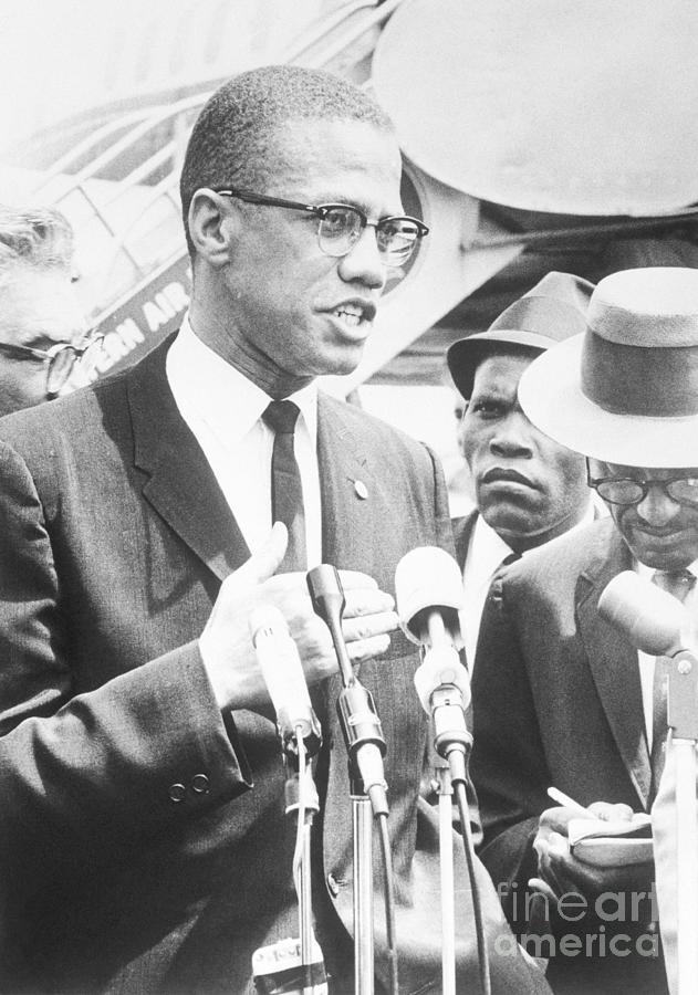 Malcolm X Speaking To The Press Photograph by Bettmann