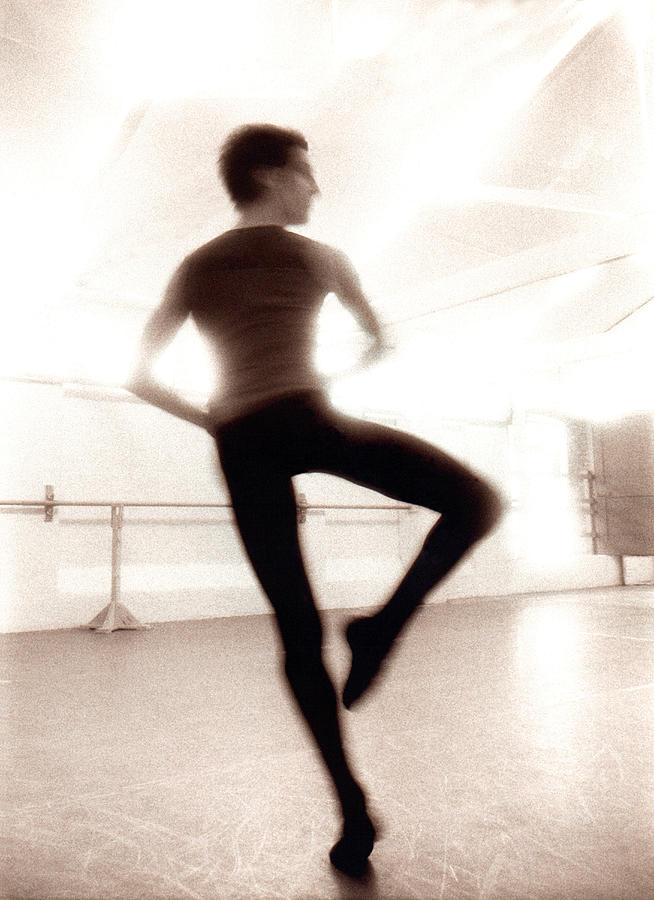 Male Ballet Dancer Practicing In Dance Photograph by Ade Groom