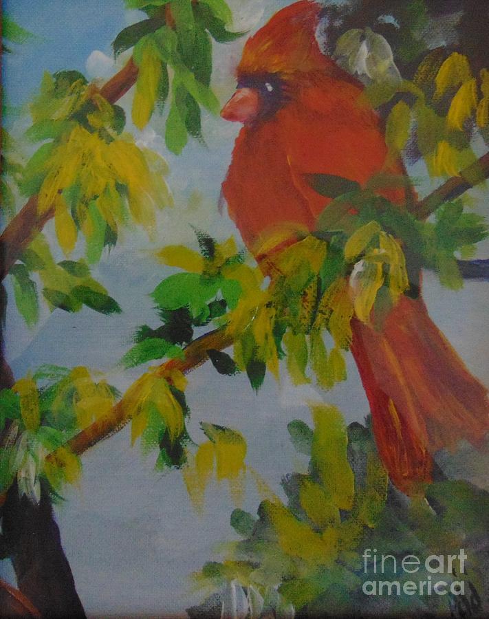 Male Cardinal by Saundra Johnson