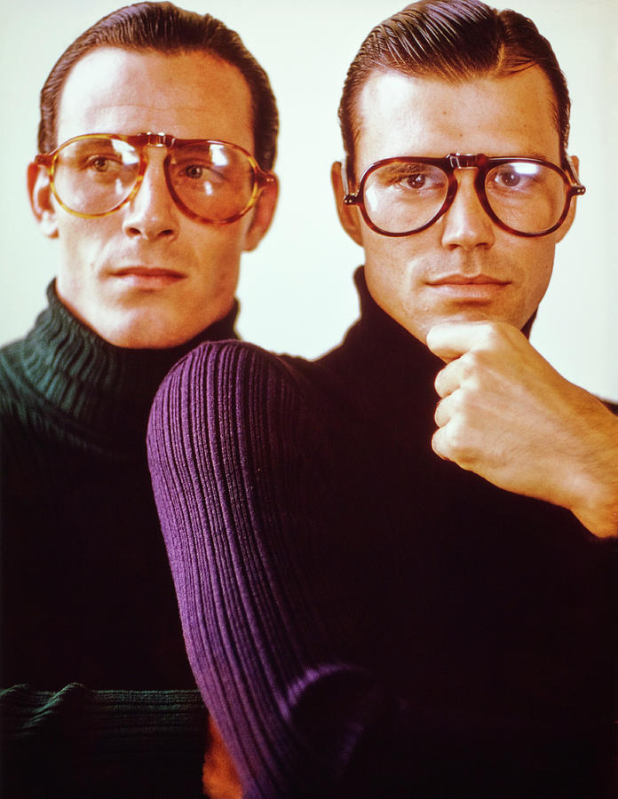 Male Models Wearing Folding Eyewear Photograph by Barry McKinley