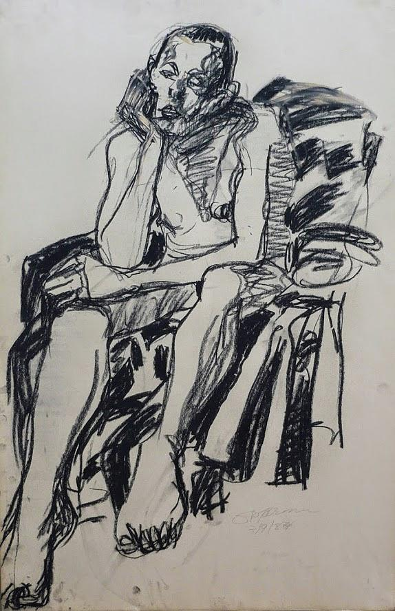 Male Drawing - Male Nude I by Galya Tarmu