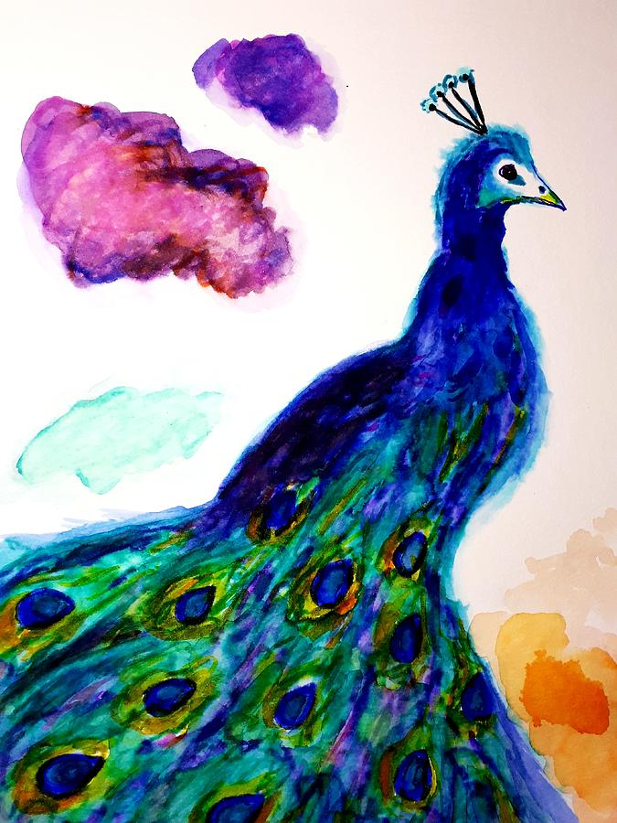 Male Peacock Privilege  by Abstract Angel Artist Stephen K