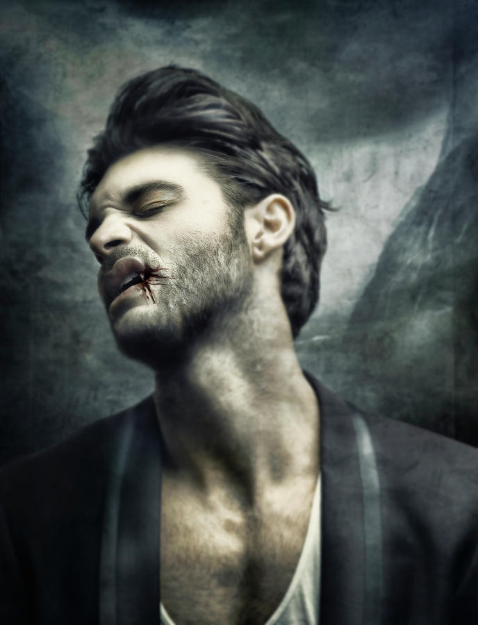 Modern Male Vampire Digital Art