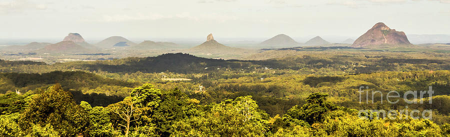 Sunshine Coast Photograph - Maleny To The Glass House Mountains by Jorgo Photography - Wall Art Gallery