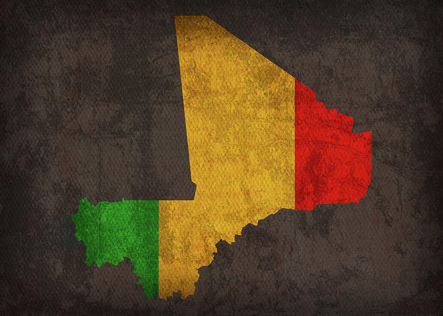 Mali Country Flag Map Mixed Media By Design Turnpike
