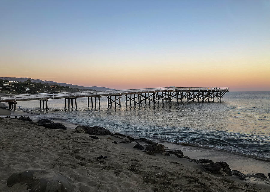 Malibu Pier at Sunset by TL Wilson Photography by Teresa Wilson