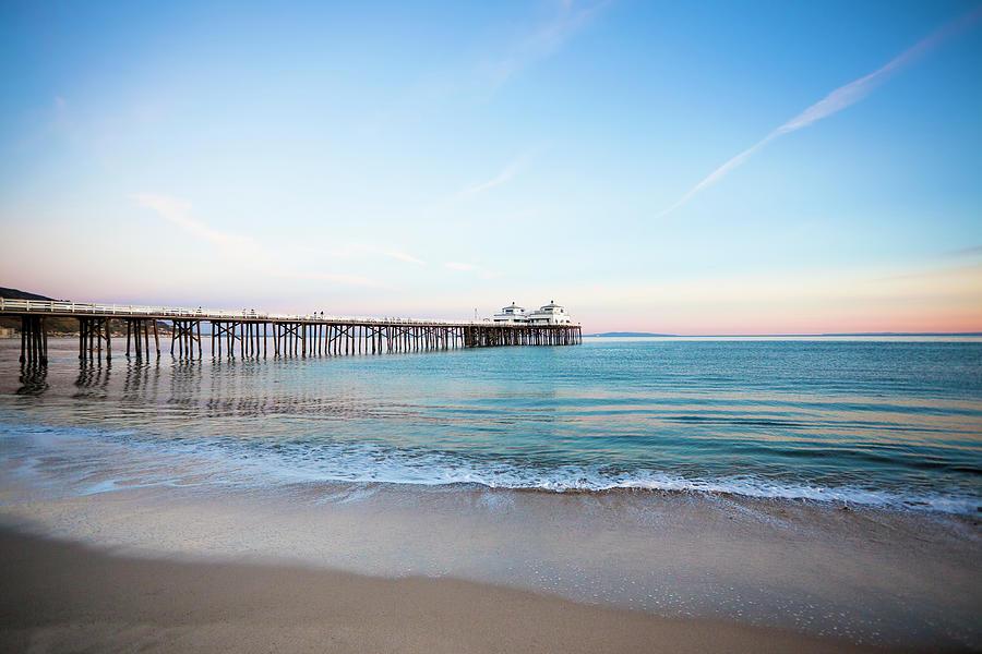 Malibu Pier Sunset Photograph by Lee Pettet