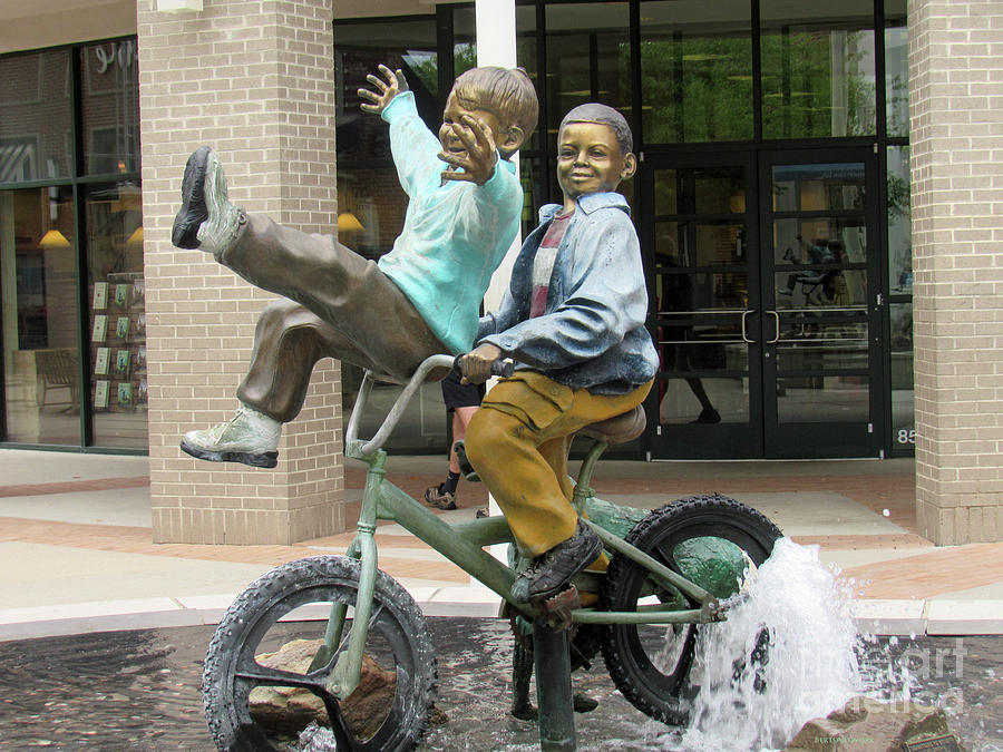 Mall Statue Bike Ride by Roberta Byram