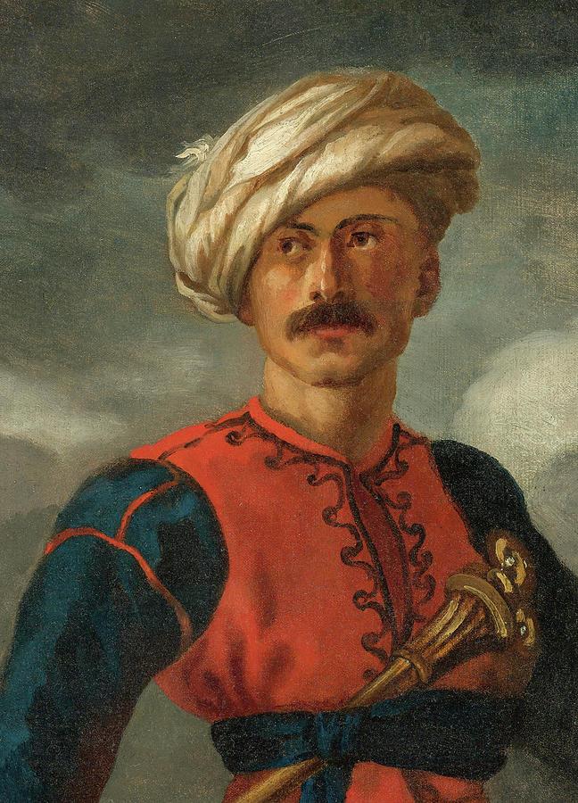 Theodore Gericault Painting - Mamluk by Theodore Gericault