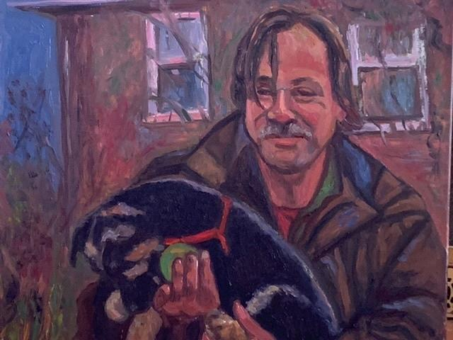 Man and Puppy by Beth Riso