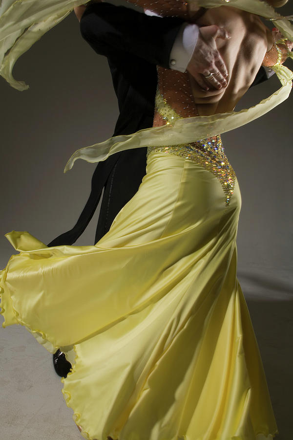 Man And Woman Ballroom Dancing, Low Photograph by Pm Images