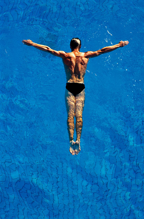 Man Floating In Water, Arms Photograph by Robert Koene