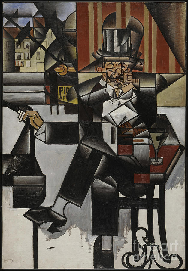 Man In A Café Drawing by Heritage Images