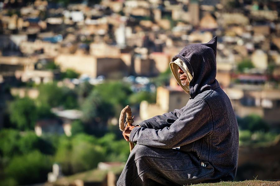 Man in Djellaba - Morocco by Stuart Litoff