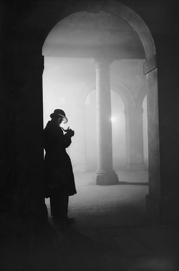 Man In Fog Photograph by Arthur Tanner