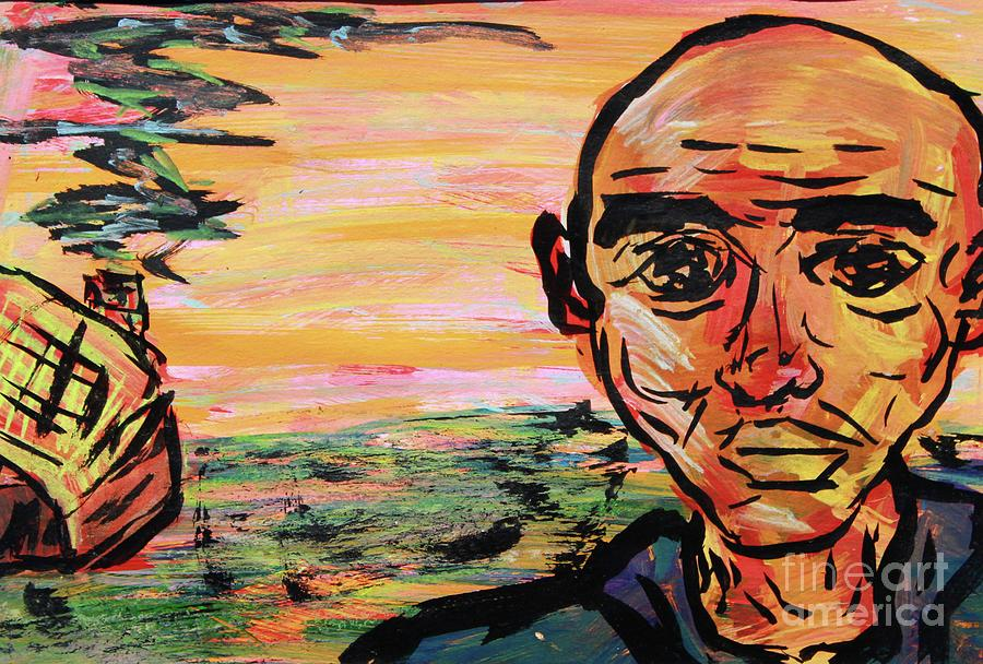 Man In Front of His Home by Odalo Wasikhongo