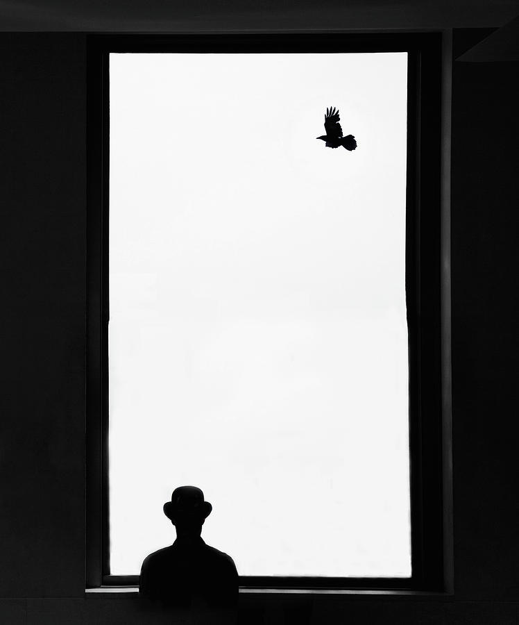 Man Looking Out Window Photograph by Grant Faint