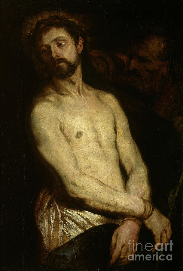 Dyck Painting - Man Of Sorrows, Ecce Homo by Anthony van Dyck