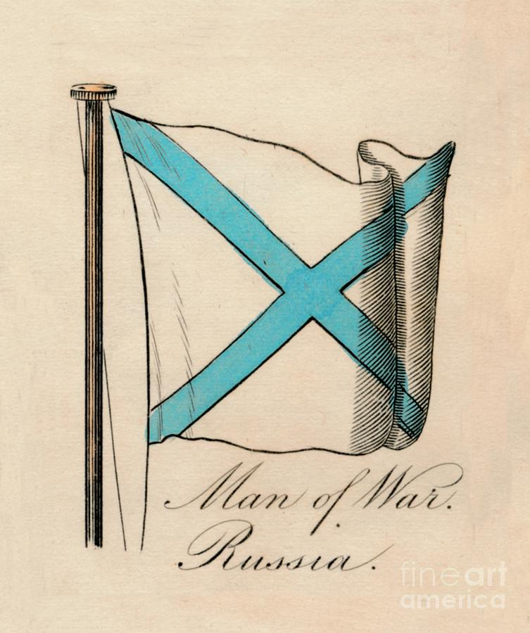 Man Of War - Russia, 1838 Drawing by Print Collector