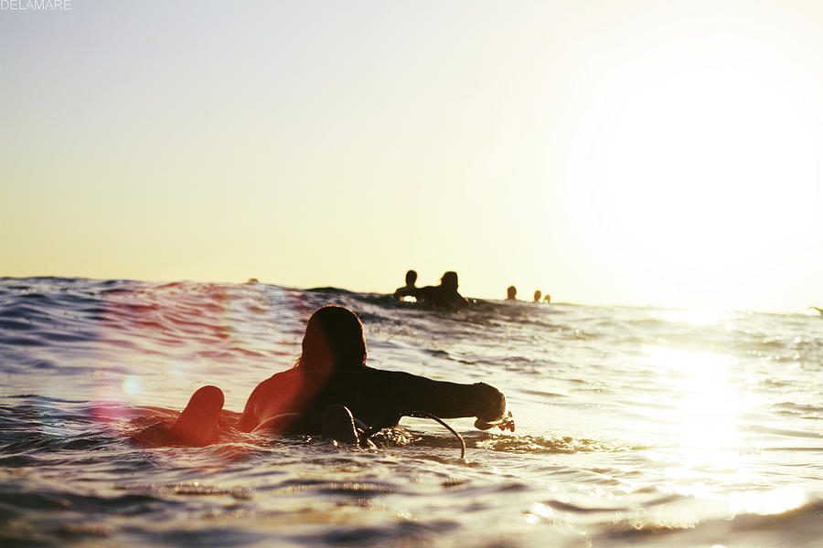 Man On Surfer Paddle Photograph by Photography By Jack De La Mare. 2012
