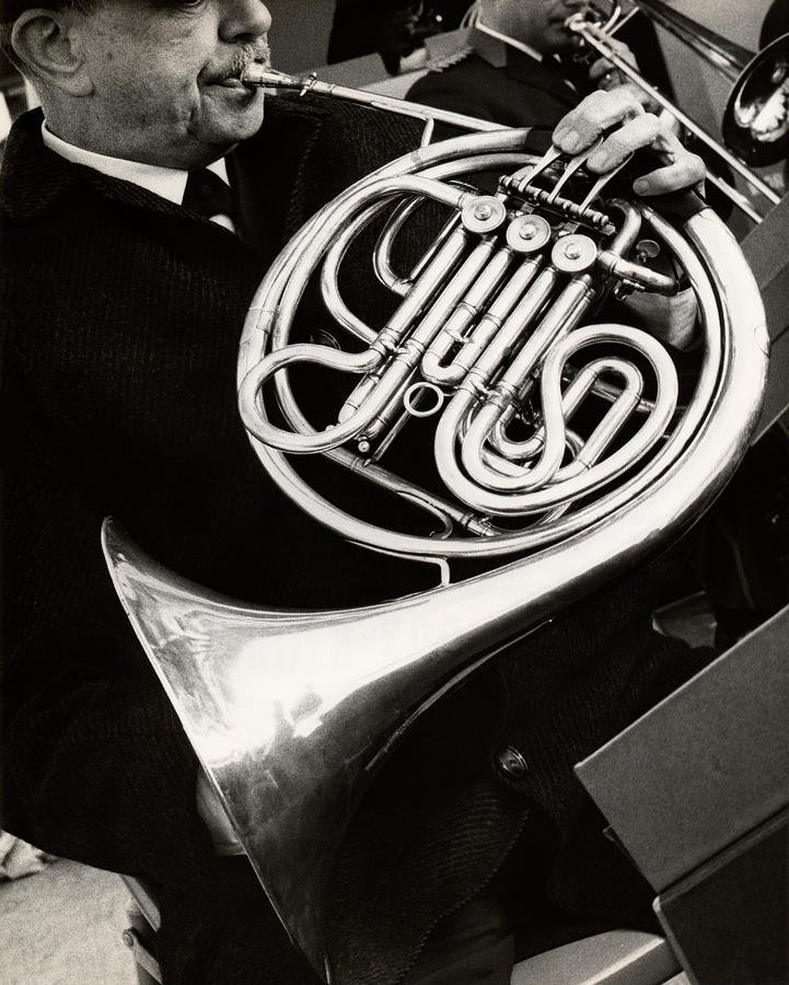 Man Playing French Horn Photograph by George Marks