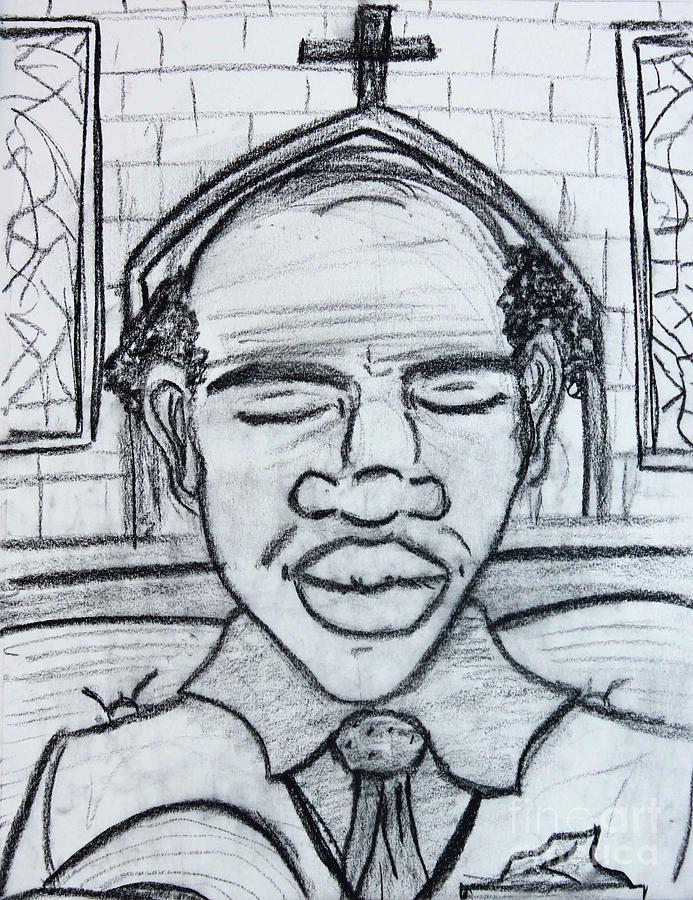 Man Praying  by Odalo Wasikhongo