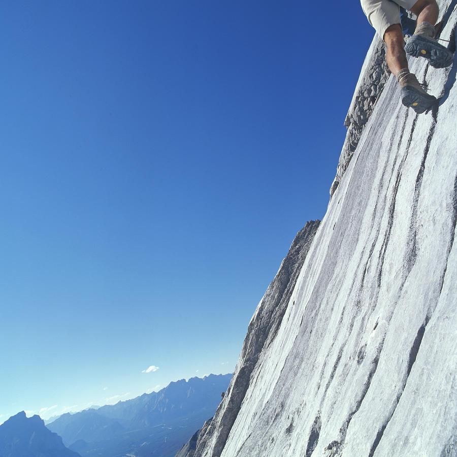 Man Rock Climbing, Low Section Photograph by Ascent/pks Media Inc.