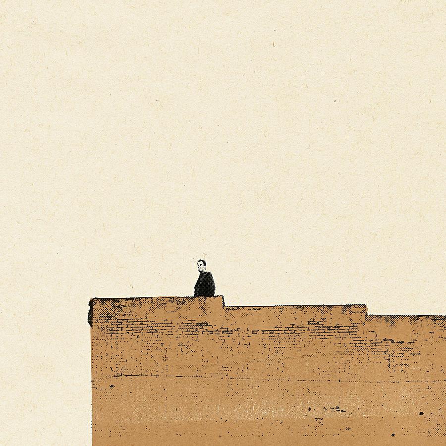 Man Standing On Wall Digital Art by Paul Jackson