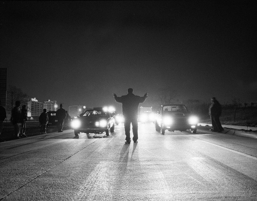 Man Starting Drag Race,  Newark,  New Photograph by Matthew  Wakem