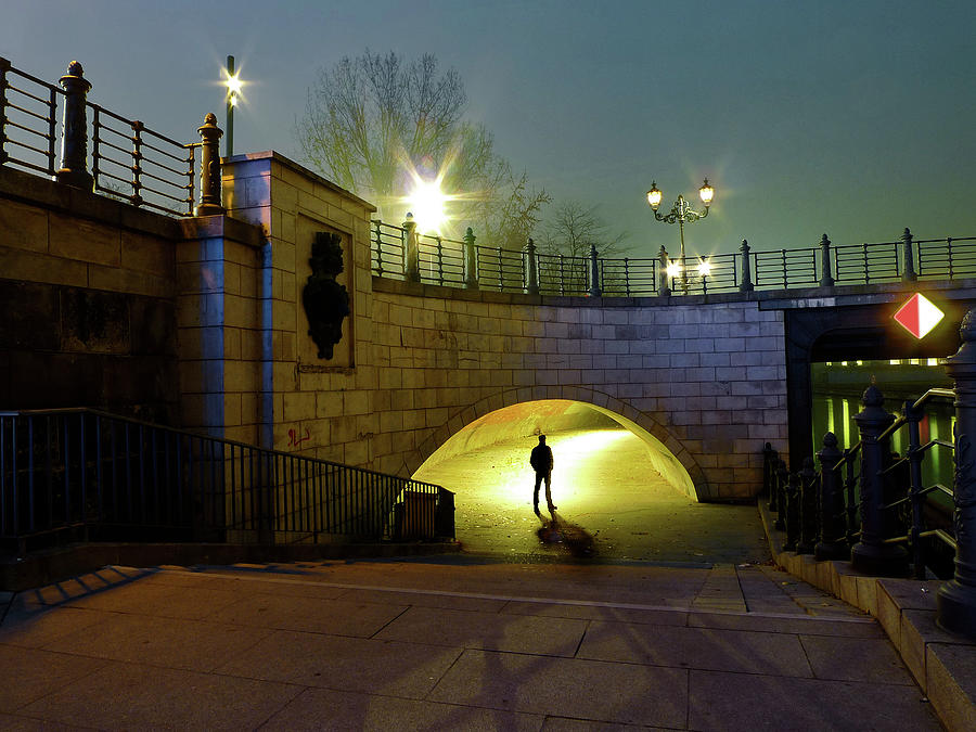 Man Underpass From Bridge Photograph by Bernd Schunack