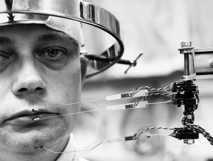 Man Wearing Instrument Sensors Photograph by Bettmann
