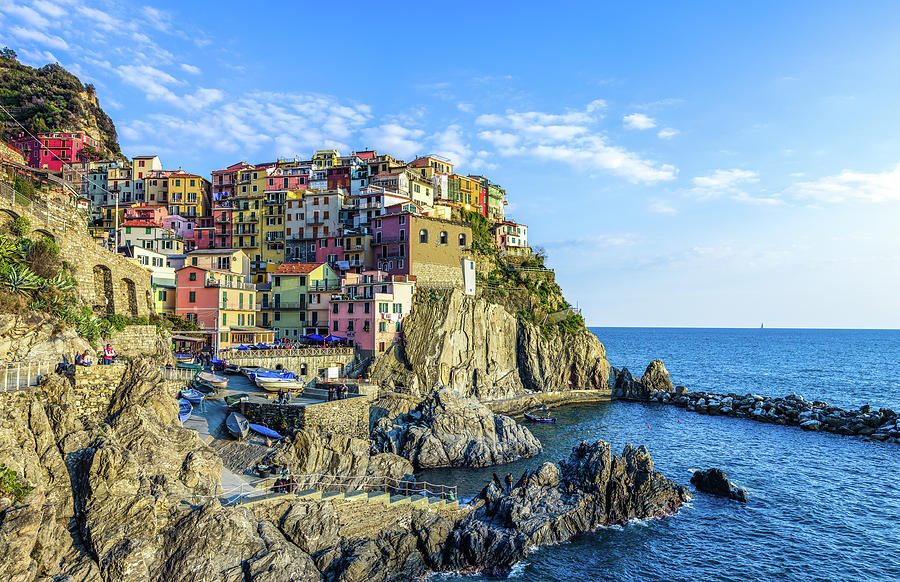 Manarola Evening by Douglas Wielfaert