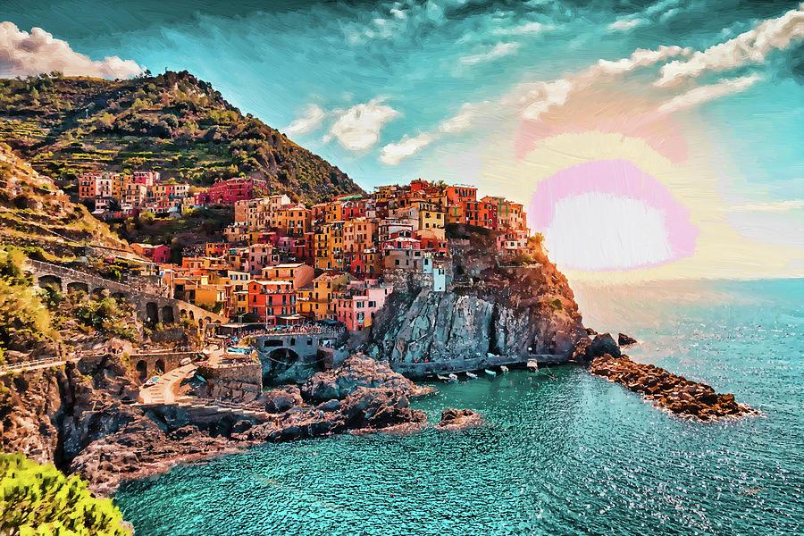 Manarola La Spezia Italy - DWP1721005 by Dean Wittle