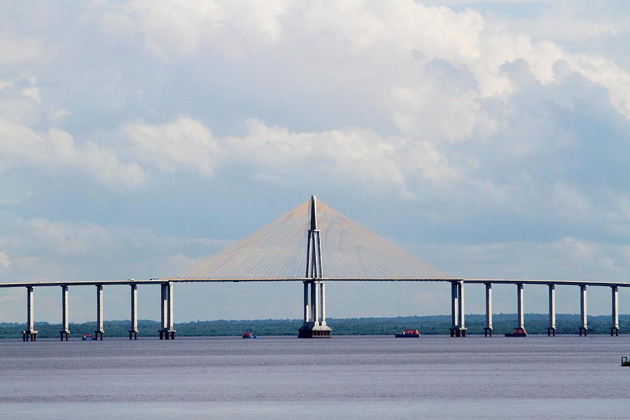 Manaus-iranduba Bridge Photograph by Ricardohossoe