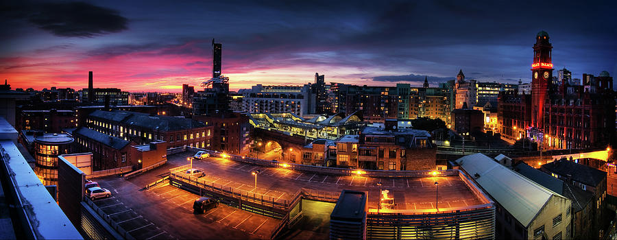 Manchester, Uk, Panorama Photograph by Mike Plunkett
