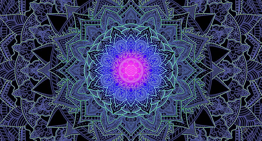 Cameron Gray Digital Art - Mandala Love by Cameron Gray