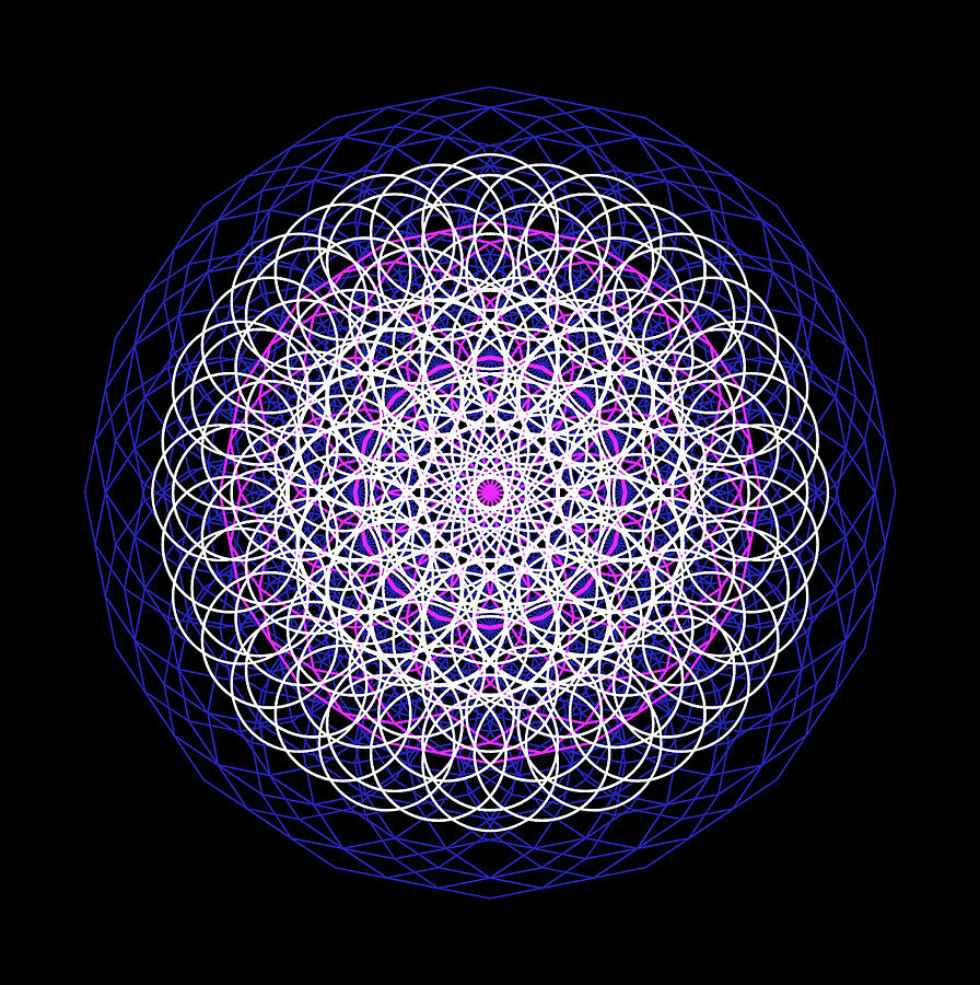 Mandala 5D realities by Nathalie DAOUT