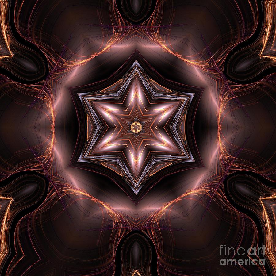Mandala Digital Art - Mandala 6 by John Edwards