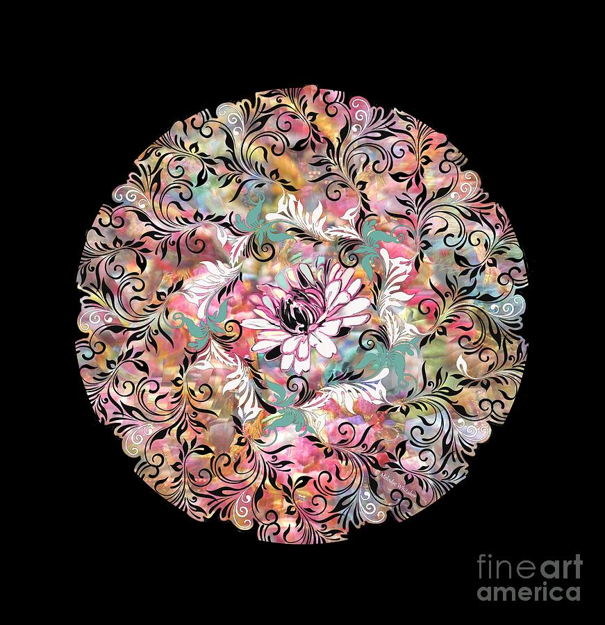 Mandala abstract overlay by Melodye Whitaker